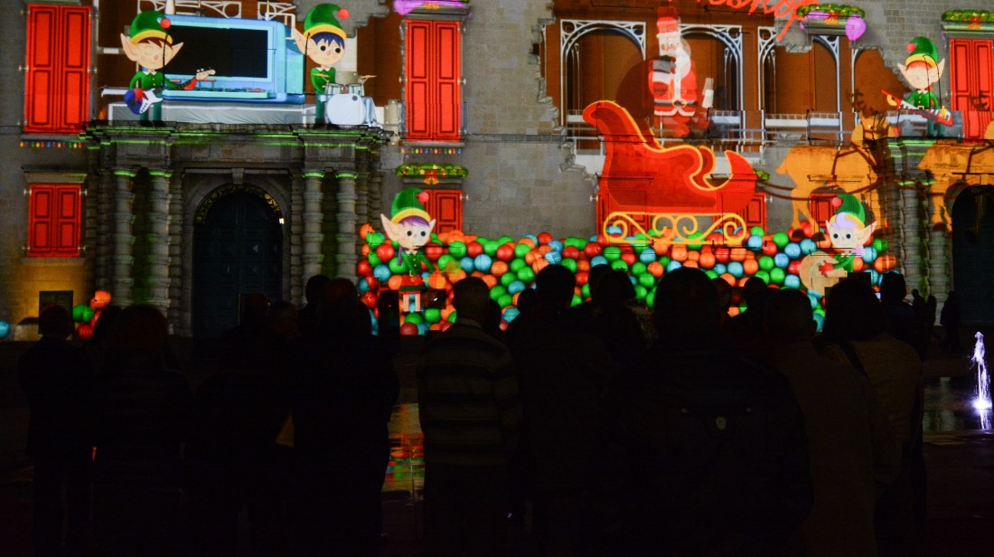 3D Christmas Architectural Mapping Projection
