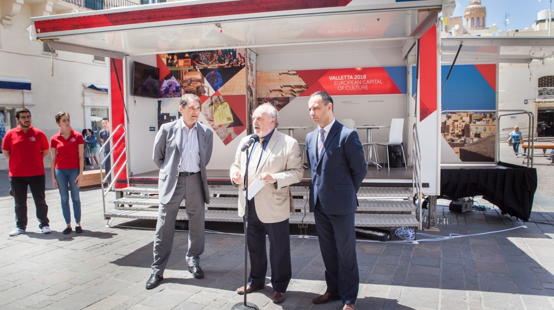 Valletta 2018 unveils first cultural hotspot mobile unit