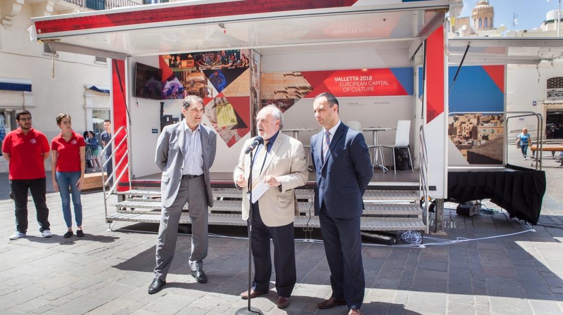 Valletta 2018 tniedi l-ewwel cultural hotspot mobile unit