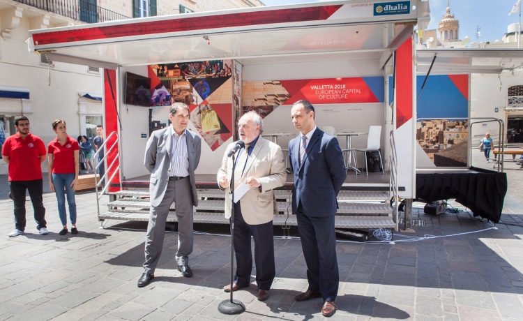 Valletta 2018 unveils first cultural hotspot mobile unit