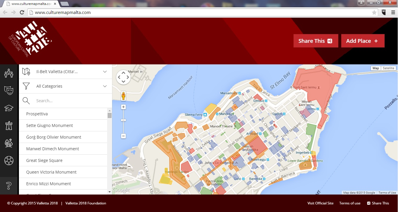 The Cultural Mapping website - www.culturemapmalta.com