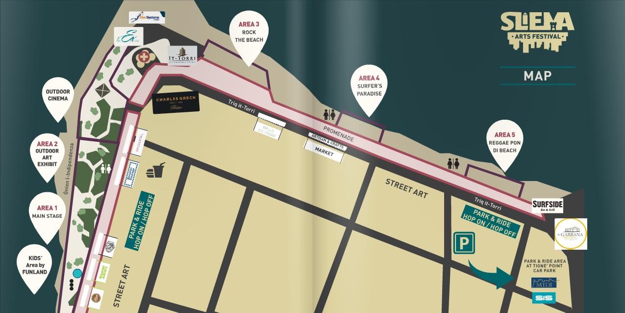 Map for the Sliema Art Festival
