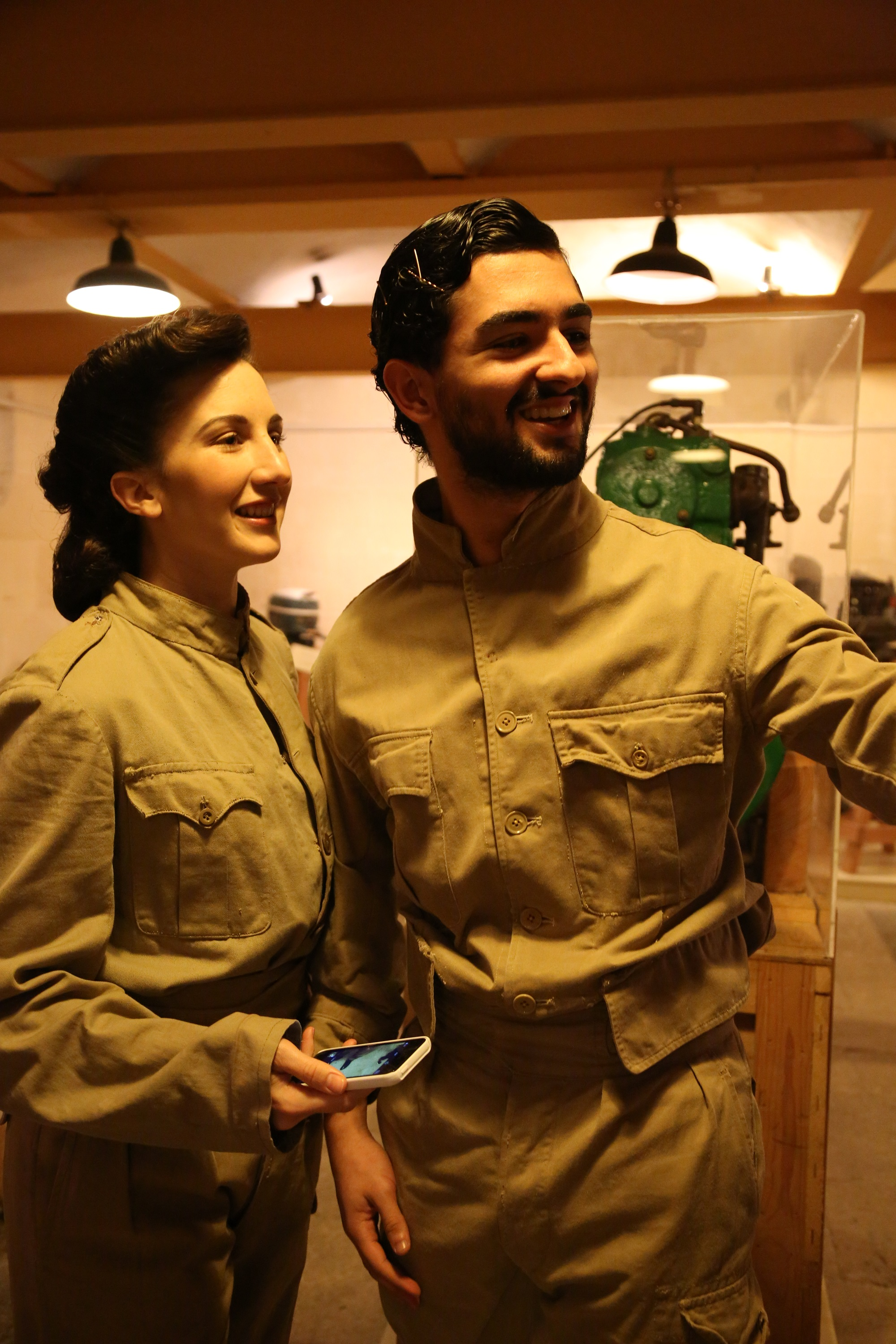 "Florinda Camilleri and Keith Micallef on set for ""The Dead Man's Penny"" at The Malta Maritime Museum."