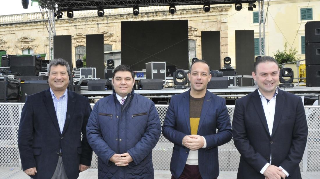 Nagħtu Merħba lill-2016 fi Pjazza San Ġorġ waqt iċ-Ċelebrazzjonijiet ta' Lejliet l-Ewwel tas-Sena fil-Belt Valletta