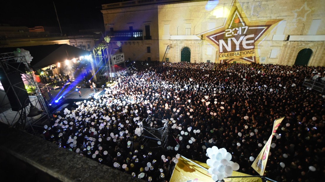 75,000 people swarm to Valletta on NYE