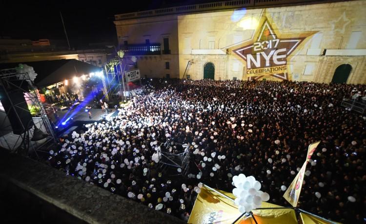 75,000 people swarm to Valletta on NYE