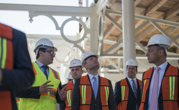 PM Joseph Muscat visits Valletta 2018 flagship projects