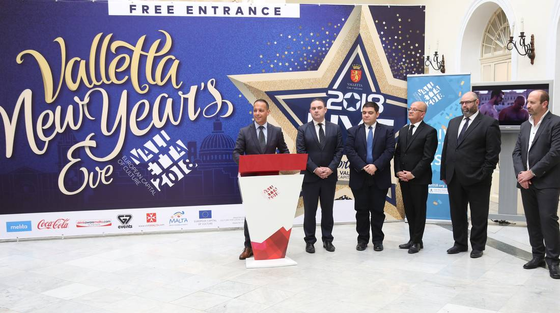 National Valletta NYE Celebrations usher in Valletta 2018 – European Capital of Culture