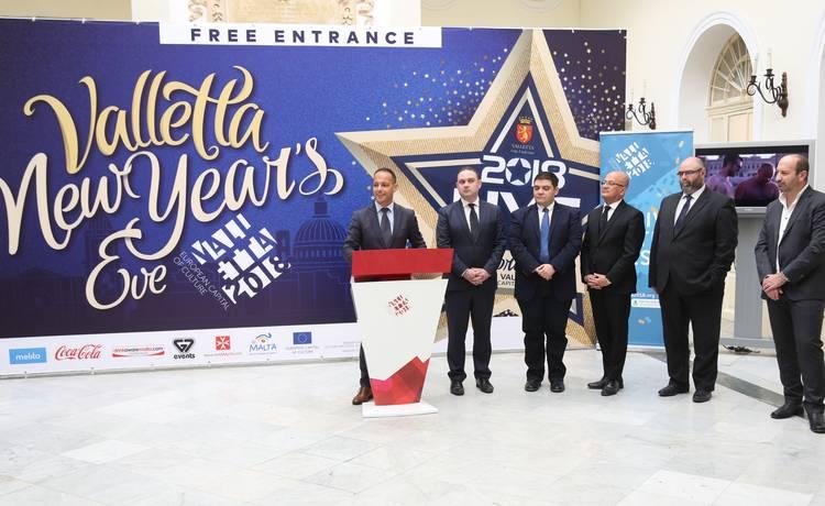 Iċ-Ċelebrazzjonijiet Nazzjonali ta' Lejlet l-Ewwel tas-Sena tal-Belt Valletta iwassluna għal Valletta 2018 – Kapitali Ewropea tal-Kultura