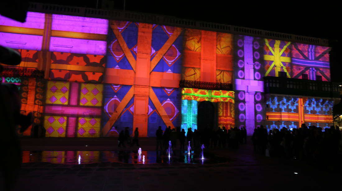 Valletta 2018 Christmas Digital Projections Light Up Grandmaster's Palace
