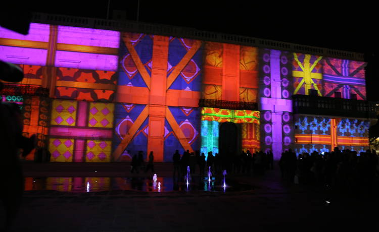 Valletta 2018 Christmas Digital Projections Light Up Grandmaster's Palace