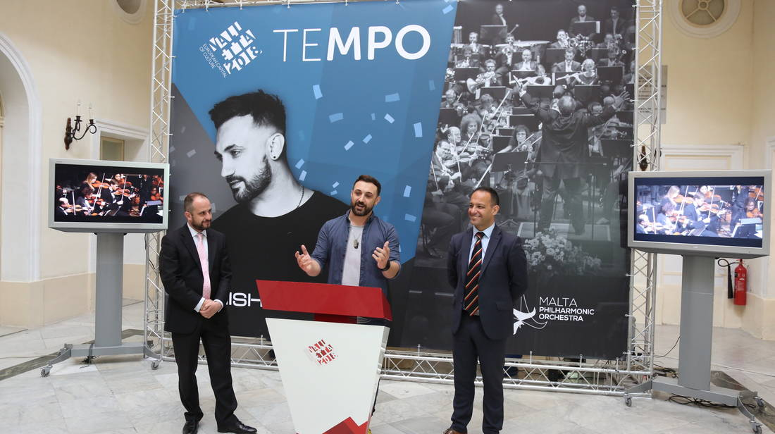 Tenishia and Malta Philharmonic Orchestra concert for Valletta 2018 Opening Celebrations
