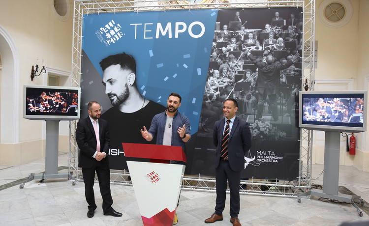 Tenishia and Malta Philharmonic Orchestra concert for Valletta 2018 Opening Celebrations