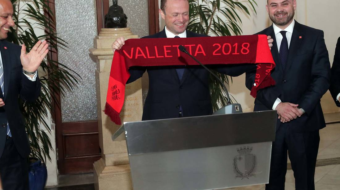Prime Minister Joseph Muscat visits Valletta 2018 offices