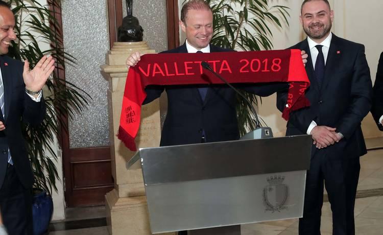 Prime Minister Joseph Muscat visits Valletta 2018 offices