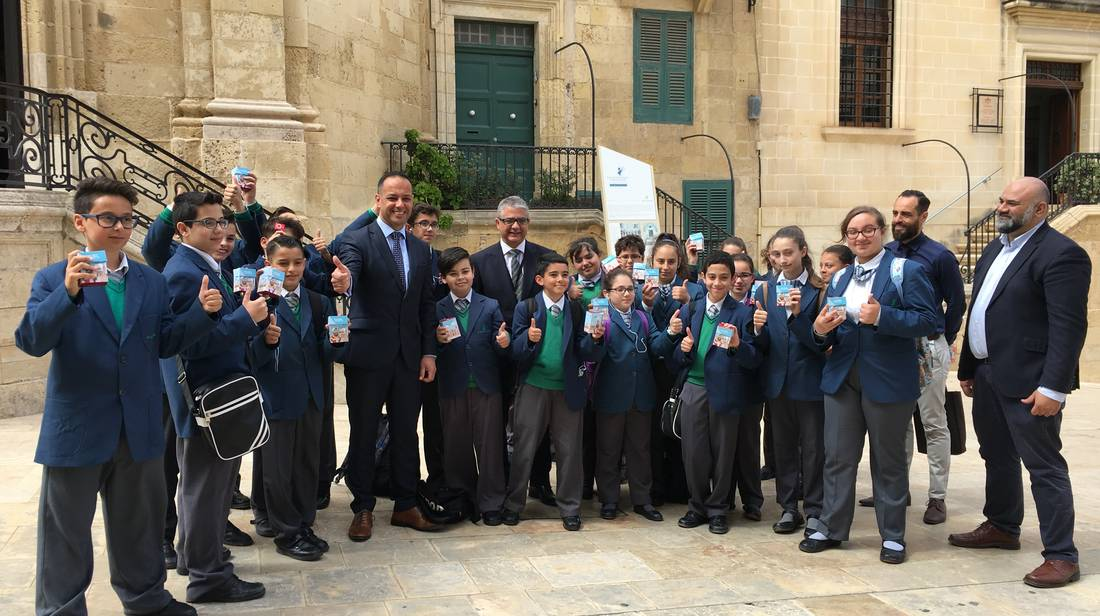 Over 4,000 Discover Valletta MP3 packs distributed to Form 1 students