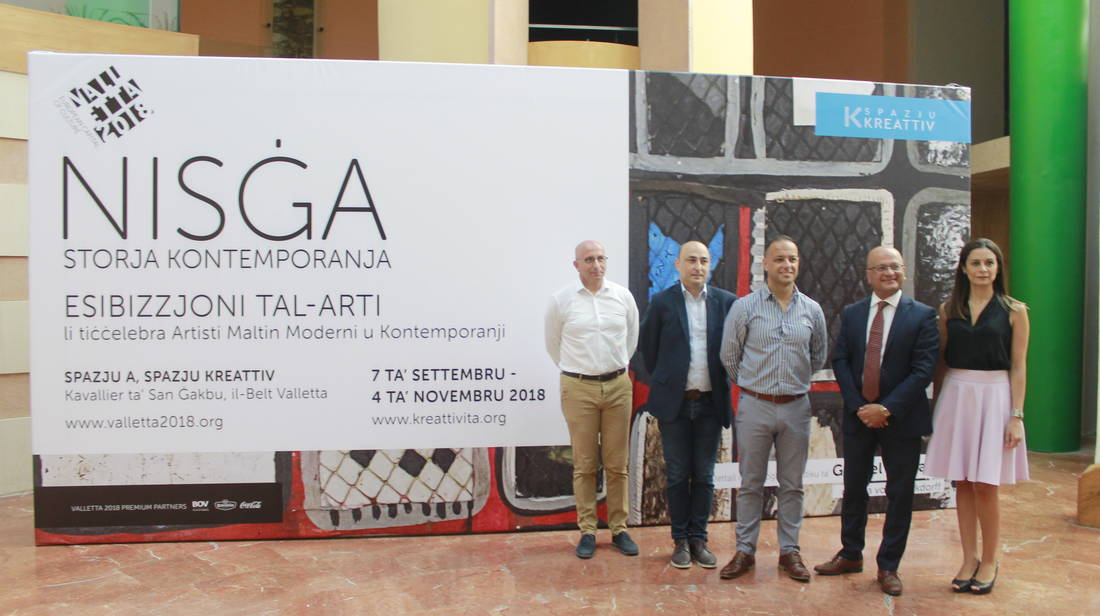 Maltese art in dialogue for Nisġa – Storja Kontemporanja