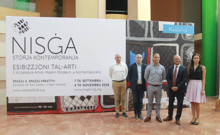 Maltese art in dialogue for Nisġa – Storja Kontemporanja