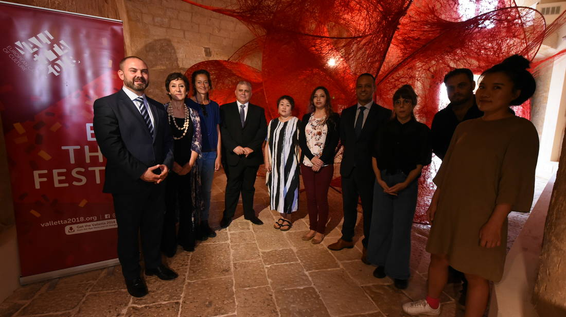 World famous artists in Valletta 2018 exhibition