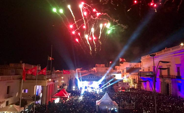 The Maltese public welcomes 2019 in Valletta